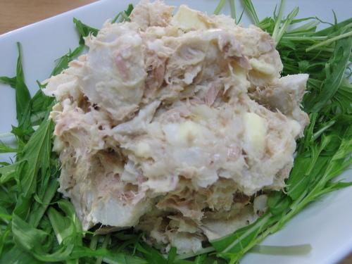 Hearty Deli Style Taro Root and Tuna Salad