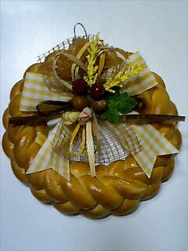 Christmas Wreath Made From Bread