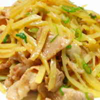 Stir Fried Pork and Potatoes with Miso Butter