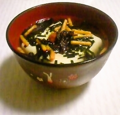 Healthy Tofu Ochazuke for a Diet or a Late Night Snack