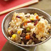 Beef and Cranberry Chinese Sticky Rice