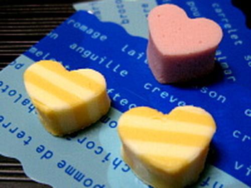 Cute Striped Cheese Hearts
