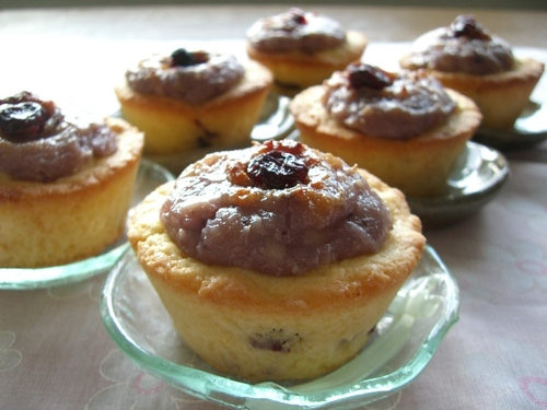 Cheese and Cranberry Cupcake made with Rice Flour