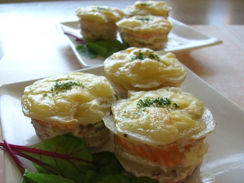 Salmon and Potato Mille-Feuille Pastries