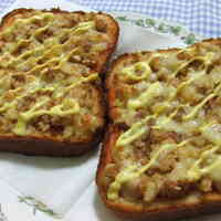 Tuna and Potato Pizza Toast
