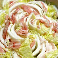 Layered Chinese Cabbage and Pork Hot Pot