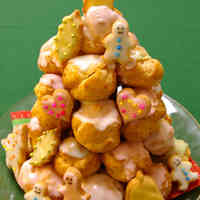 A Choux Pastry Christmas Tree