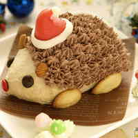 Hedgehog Christmas Cake