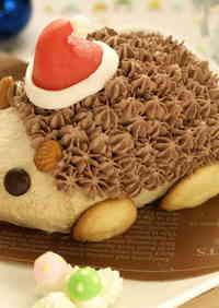 Hedgehog Christmas Cake
