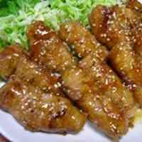 Nagaimo Yam and Pork Teriyaki Rolls