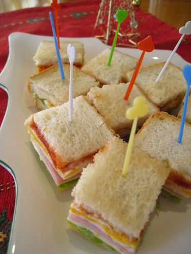 Christmas Cocktail Sandwiches