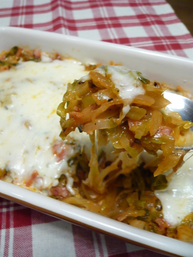 Easy Gratin-style Onion and Cabbage