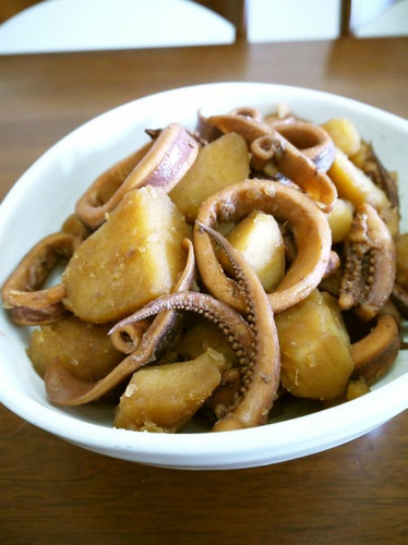 Simmered Squid and Potatoes♪