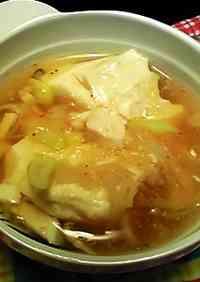 Tofu and Japanese Leek Soup with Grated Radish and Ankake Sauce