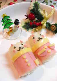 Santa Barrel Cats Character Bento