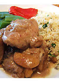Moroccan-Style Chicken Thigh Simmered in Dried Fruit