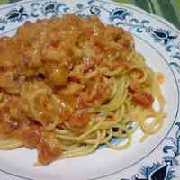 Simple Crab Meat Tomato Cream Pasta