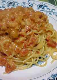 Simple Crab Meat Tomato Cream Pasta