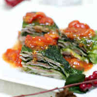 Easy Steamed Layered Pork & Lettuce in the Microwave