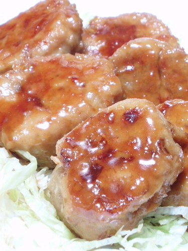 Fluffy Crispy Lotus Root Chicken Tsukune Patties
