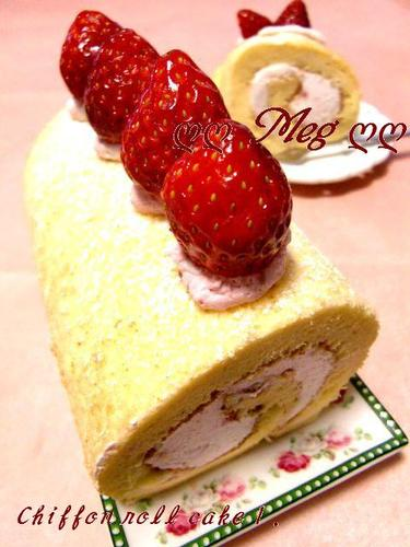 Fluffy Chiffon Swiss Roll