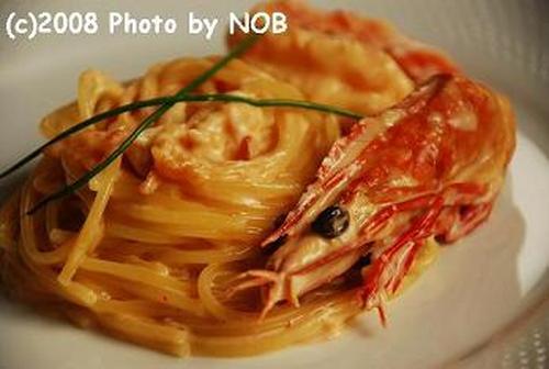 Pasta with Shrimp and Cream