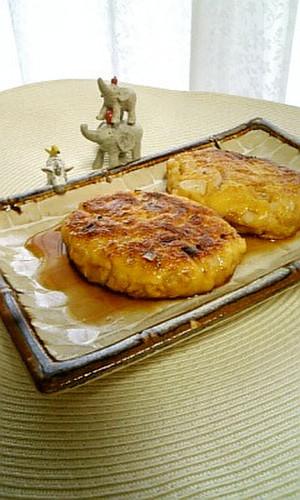 Okra and Tofu Hamburgers with Miso Sauce