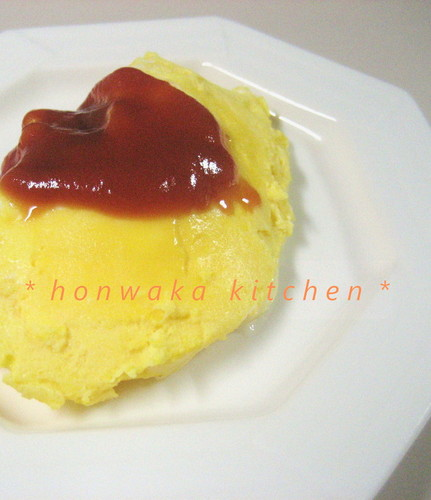 Petite Microwaved Cheese Omelette For Your Bento