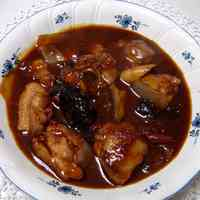 Chicken Stewed with Prunes and Red Wine