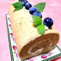 Milk Tea Chiffon Roll Cake