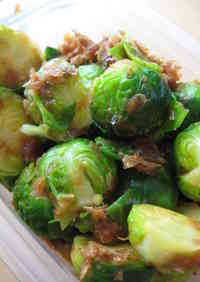 Seasoned Brussels Sprouts with Bonito Flakes