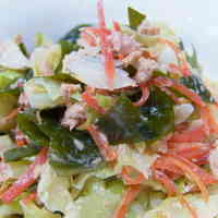 Cabbage, Tuna and Wakame Seaweed Salad With Mayonnaise-Ponzu Dressing