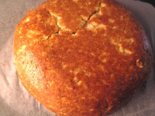 Okara and Soy Milk Cake Baked in a Rice Cooker