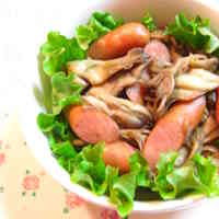 Maitake Mushroom & Wiener Sausage Stir-Fry