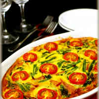 Spinach, Bacon, and Tomato Quiche