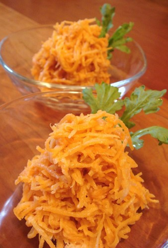 Oil-free Carrot Salad with Sesame Miso