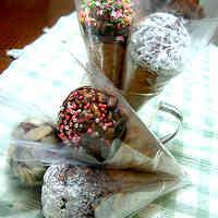 Unmeltable Chocolate Ice Cream Cones