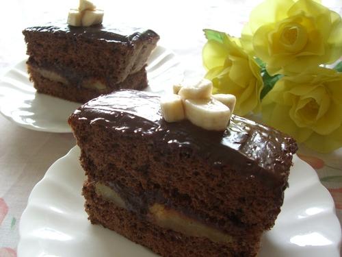 Rum Banana Chocolate Cake