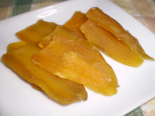 Homemade Dried Sweet Potatoes