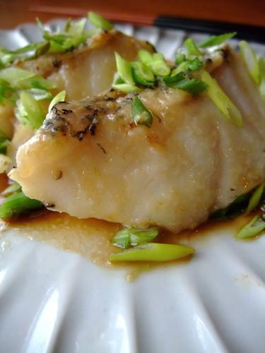 Sautéed White Fish in Ponzu