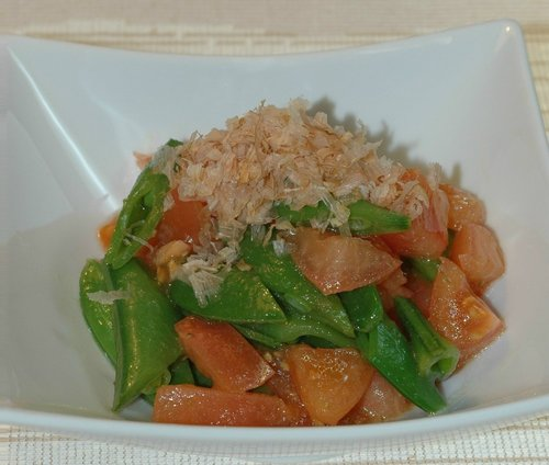 Snap Peas and Tomatoes with Yuzu Pepper
