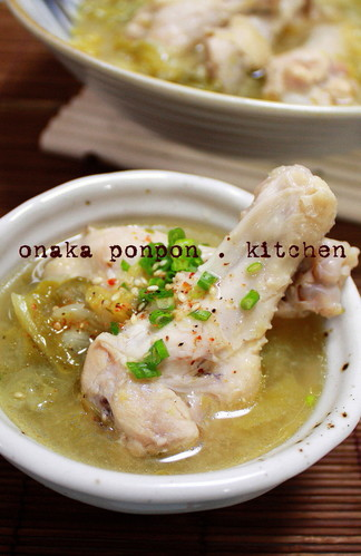 Chicken Drumettes and Juicy Cabbage Stewed in Miso