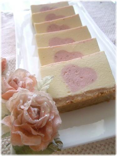 Strawberry Heart No-Bake Cheesecake