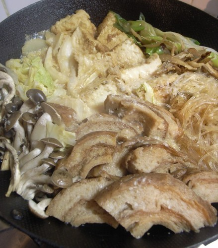 Sukiyaki-style Kurumabu Seasoned with Sweet- Savory Sauce
