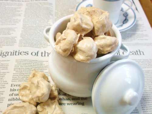 Walnut Meringue Roche Cookies