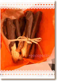 Valentine's Day Chocolate Stick Rusks Made With Bread Crusts