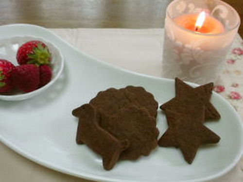 Cut-Out Cocoa Cookies with Rice Flour