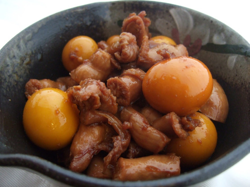Home Recipe for Simmered Chicken Offal and Ovaries
