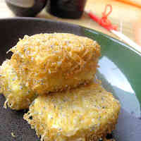 Deep Fried Tofu With Shirasu Batter