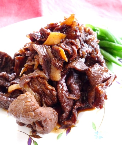 Wine Simmered Beef with Ginger and Brown Sugar